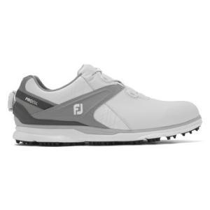FootJoy Mens Pro SL BOA 2020 Golf Shoe - White/Grey