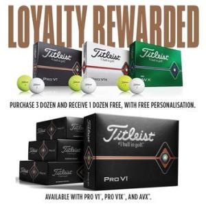 Titleist Pro V1/AVX - Personalised Golf Ball Offer - 3 Dozen + 1 Dozen Free