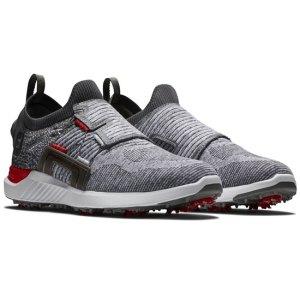 Footjoy HYPERFLEX Golf Shoes Mens BOA - Grey/Black/Red