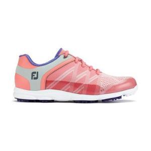 FootJoy Womens Sport SL Golf Shoes - Pink/Periwinkle