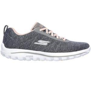 Skechers Ladies Go Walk Golf Shoes - Grey/Pink