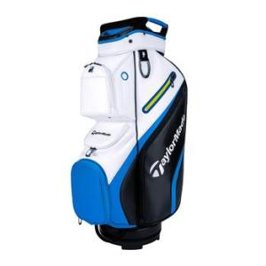 TaylorMade Deluxe Golf Cart Bag - Black/White/Blue