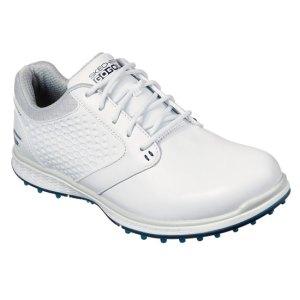 Skechers Ladies Elite 3 - Delux Golf Shoes - White/Navy