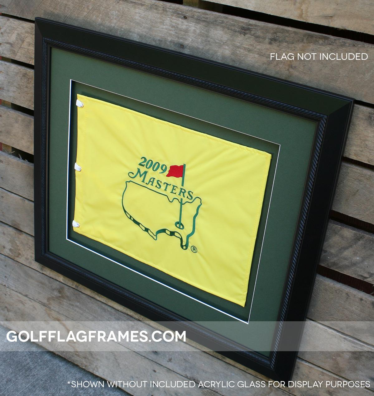 20×24 Black Frame to Hold 13×17 Golf Flag (Moulding blk-002, Double ...