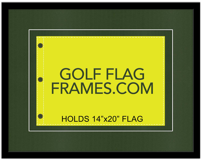 21×27 Black Frame to Hold 14×20 Flag (Moulding blk-004 Shadowbox ...