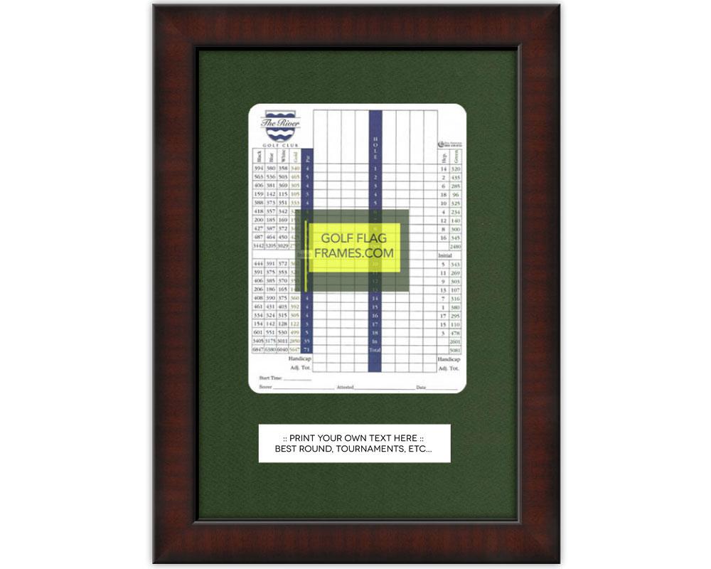 Custom Size Brown Golf Scorecard Frame; Moulding brn-002, You choose ...