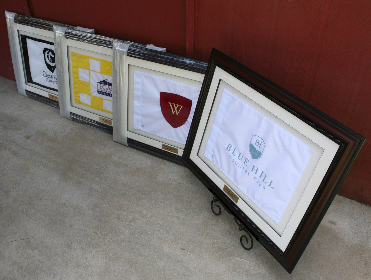 Sister Golf Course Framed Flags Golfflagframes