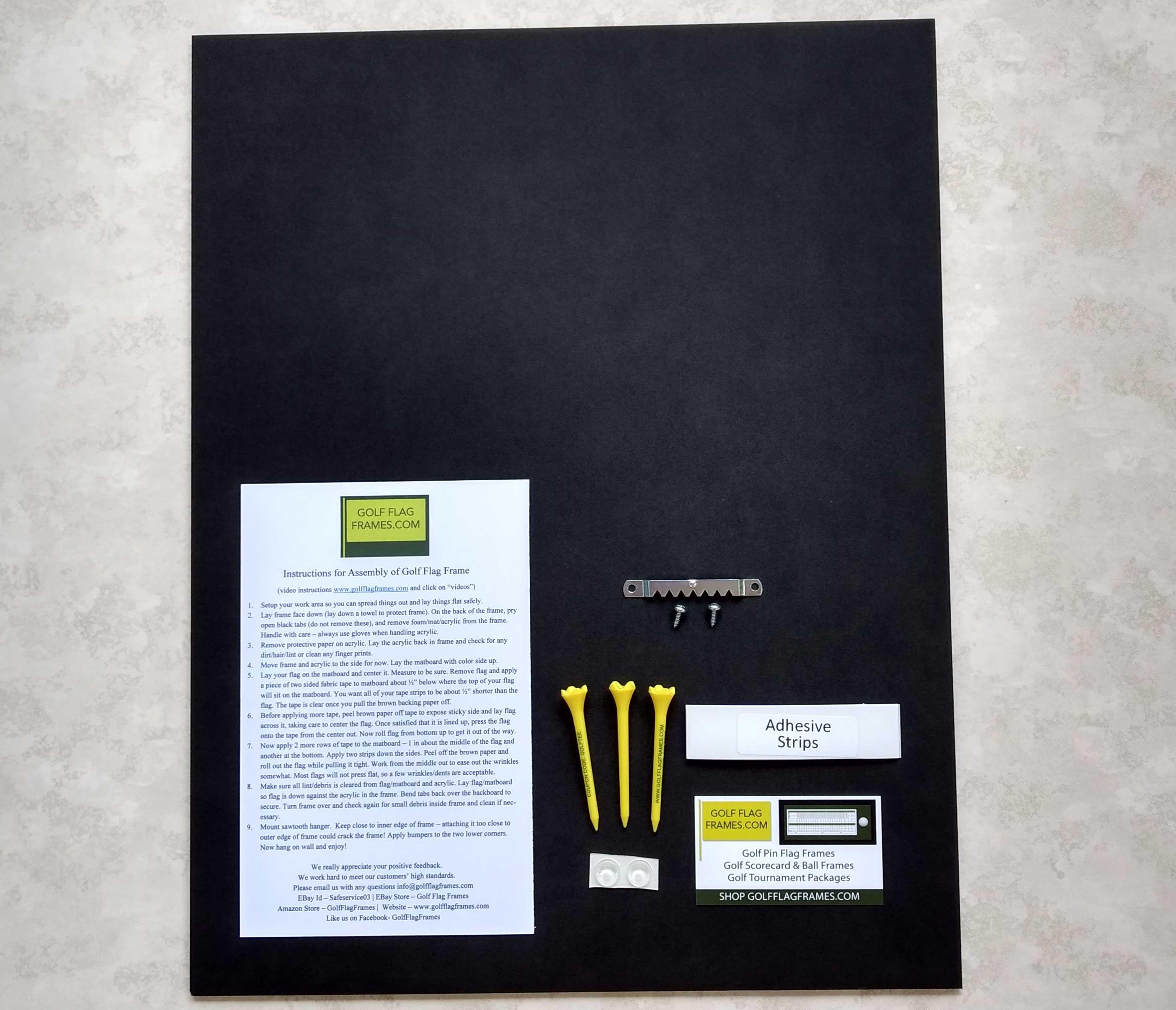 17×23 Brown Frame to Hold 14×20 Golf Flag (Moulding brn-011 ...