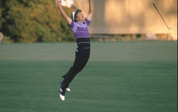 Larry Mize—1987 Masters Golf Shots