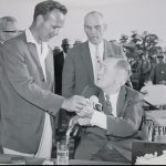 1962 Masters Photo featuring Bobby Jones, Arnold Palmer, and Clifford Roberts
