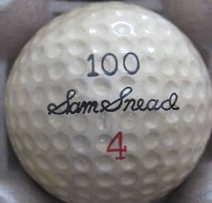 Sam Snead 100 Wilson 4 Signature Golf Ball