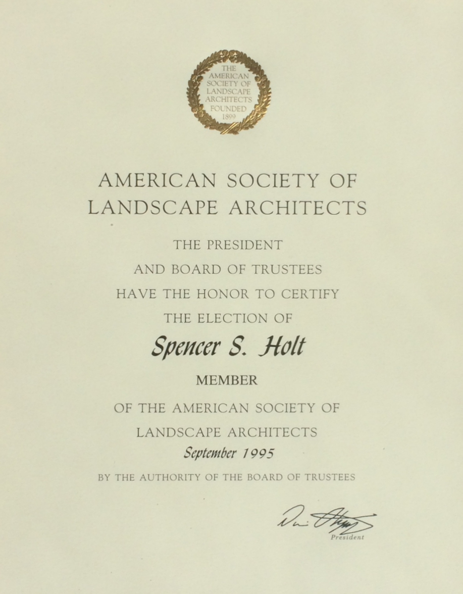 American Society Of Lanscape Architects