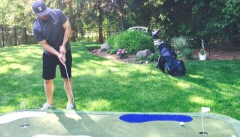 How To Build A Putting Green In My Backyard golfer's dream backyard renovation - my home putting green