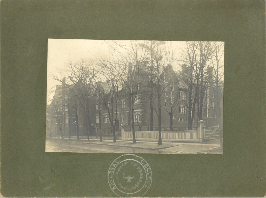 Dated 1906, a photograph of Havergal College when it was located at 350 Jarvis St, Toronto...by kind permission of 'Dr. Catherine Steele 1928 Archives, Havergal College'