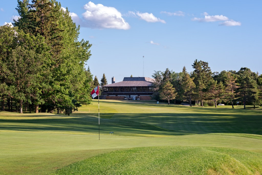 A view of the golf course and the clubhouse, by kind permission of Elmhurst Golf & Country Club