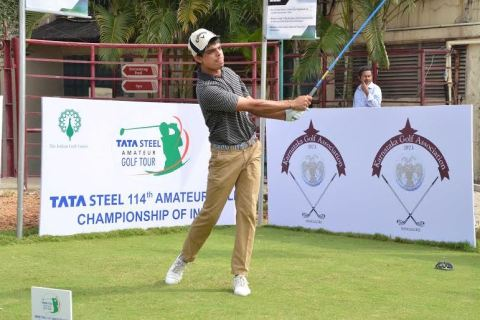 Saqib Ahmed reaches the finals of the Amateur Golf Championships