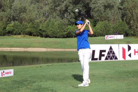 Gurbani Singh stole the show from her seasoned competitors in the first round at Royal Springs