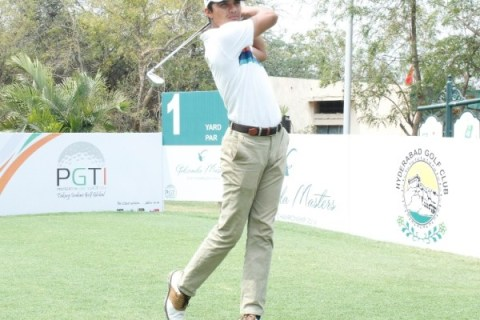 Ajeetesh Sandhu played commanding golf all week for a wire to wire victory at the Hyderabad Golf Club