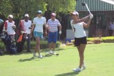 Tvesa Malik shot one over 73 to get into the lead with Neha Tripathi and Shweta Galande