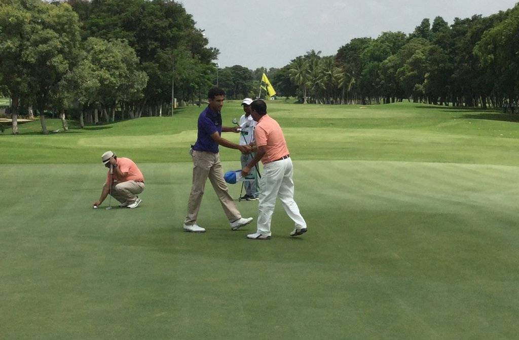 Himmart Rai produced a brilliant 65 on Wednesday for a four shot lead in Bengaluru
