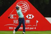 Russell Knox of Scotland hits a tee shot on the ninth hole during the first round of the WGC - HSBC Champions at the Sheshan International Golf Club on October 27, 2016 in Shanghai, China.