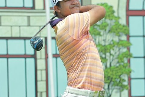 Vikrant Chopra fired a brilliant 64 in the second round of the PGTI Masters at the Classic Golf & Country Club in Mewat. He is leading Sujjan Singh by one shot.
