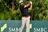 Gaganjeet Bhullar in action at SMBC Singapore Open