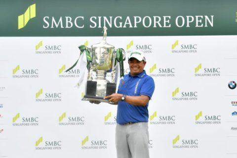 Prayad Marksaeng of Thailand won SMBC Singapore Open