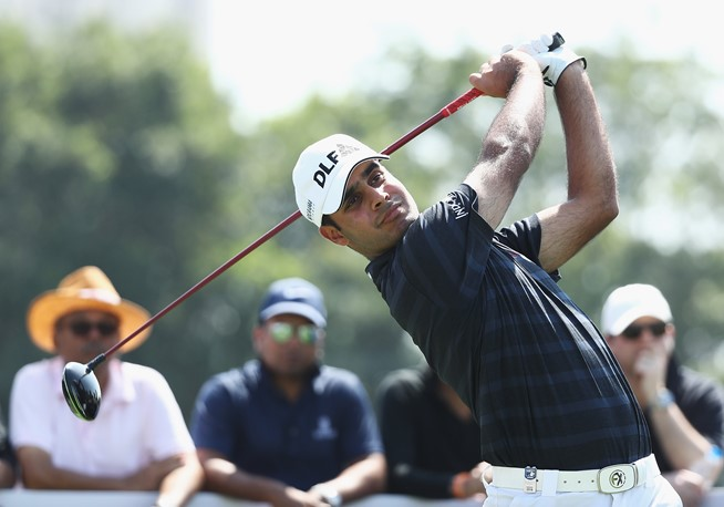 Shubhankar Sharma battled hard to shoot 72 on the third day of the Hero Indian Open