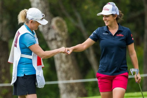 Christine Wolf leads the Lalla Meryem Cup