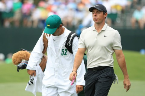 Rory McIlroy in the second round of the Masters