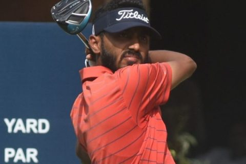 Arjun Singh joins the group to share first round lead at PGTI Feeder Tour event
