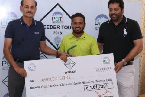 Ashbeer Saini wins PGTI Feeder Tour event