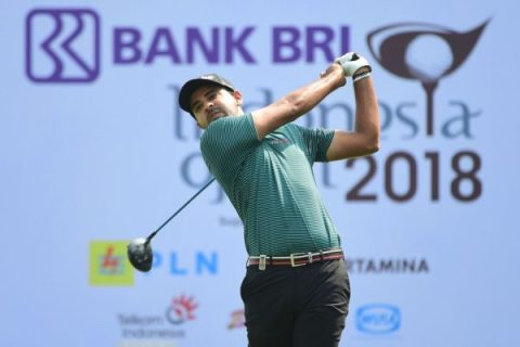 Khalin Joshi of India at T4 in the second round of Indonesia Open