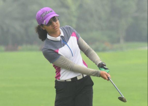 Rhea Saravanan tie for second along with Amandeep Drall