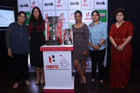 Team India at the Hero Women's Indian 2018 press conference