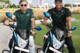 Tiger Woods and Pawan Munjal at the Hero World Challenge