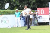 Shiv Kapur during the first round at the Chandigarh Golf Club