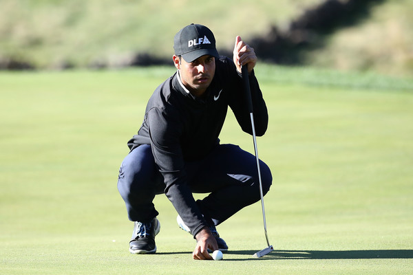 Shubhankar Sharma during the final round of the CJ Cup