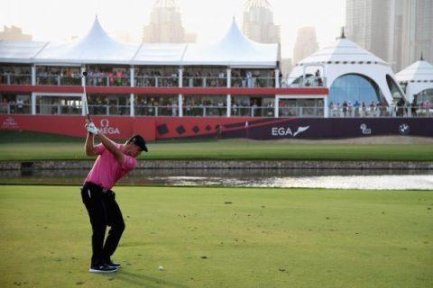 Bryson DeChambeau shot a second straight 66 in the Dubai Desert Classic