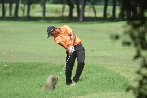 Akshay Sharma shared joint first round lead with Kapil Kumar at PGTI Players Championship