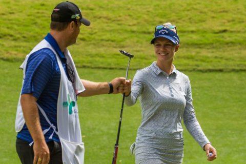 Madelene Sagstrom leads the Australian Ladies Classic - LET Image