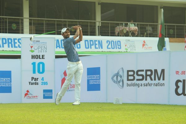 Rashid Khan during the first round of the Chittagong Open