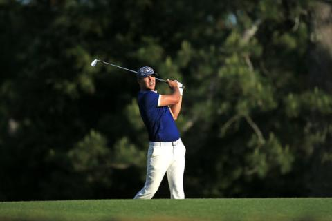 Brooks Koepka during the first round of the Masters