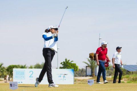 05/04/2019. Ladies European Tour 2019. Jordan Mixed Open, Ayla Golf Club, Aqaba, Jordan. 4-6 April 2019. Diksha Dagar of India during the second round. Credit: Tristan Jones