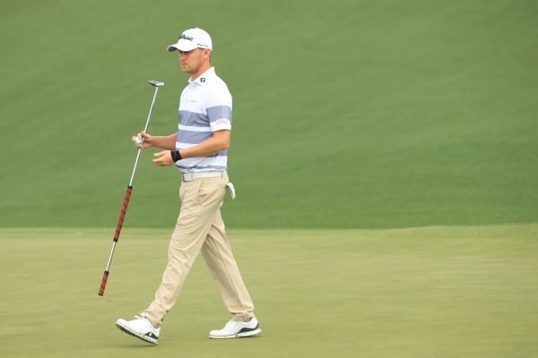 Justin Harding during the first round of the Masters
