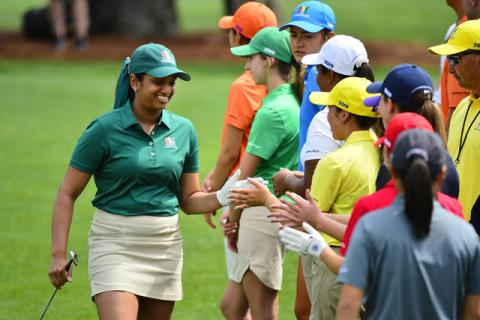 Megha Ganne is a young golfer with great social skills - DCP Images