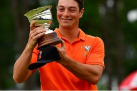Viktor Hovland honors for Low Amateur honors at 2019 Masters