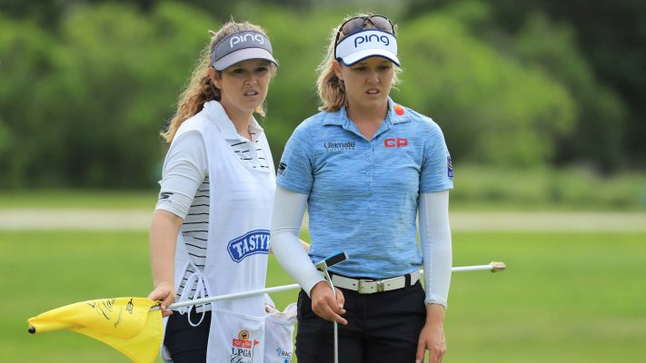 Brooke Henderson leads the opening round of Meijer LPGA Classic for Simply Give