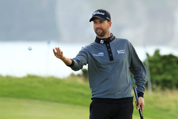 Webb Simpson has the early lead at The Open